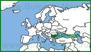 Болгария на карте Европы