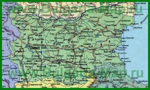 Карта Болгарии на русском языке