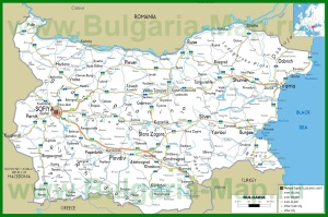 Карта дорог Болгарии