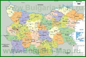 Политическая карта Болгарии